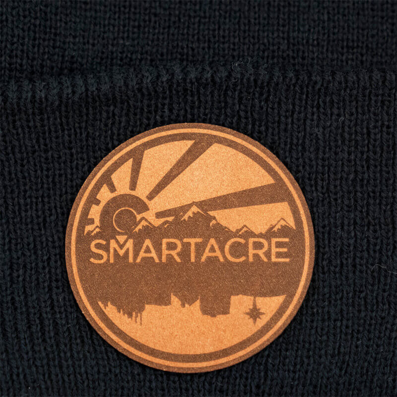SmartAcre Stamped Leather Logo Patch